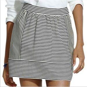 Madewell Skirts - Madewell Women's Ponte Swivel Striped Mini Skirt